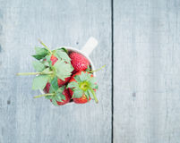 Strawberries in a cup Stock Photography