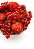 Strawberries and currants Royalty Free Stock Images