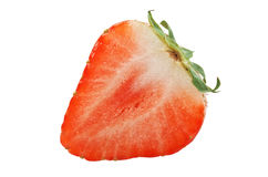 Strawberries cut Royalty Free Stock Image