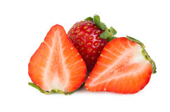 Strawberries cut into pieces Stock Photography