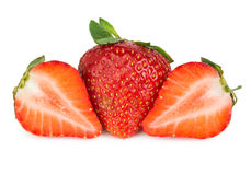 Strawberries cut into pieces Royalty Free Stock Photography