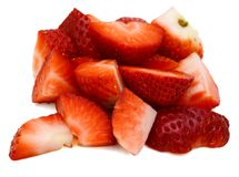 Strawberries cut Royalty Free Stock Images