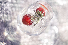 strawberries in the cycle of reflections Stock Photos