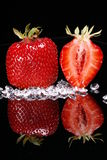Strawberries and diamonds Stock Photo