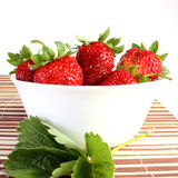 Strawberries on dish Stock Image