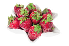 Strawberries on Dish Stock Photos