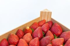 Strawberries on display ready for sale royalty free stock photography