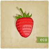 Strawberries eco background Royalty Free Stock Image