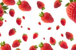 Strawberries with effect. Nstrawberries with effect on white background for backgrounds, fresas con efecto Stock Photo