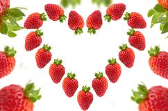 Strawberries with effect on white background for backgrounds. Frutas con efecto y fondo blanco Royalty Free Stock Image