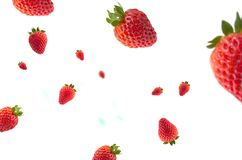 Strawberries with effect on white background for backgrounds. Frutas con efecto y fondo blanco Stock Photo