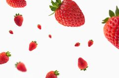 Strawberries with effect on white background for backgrounds. Frutas con efecto y fondo blanco Royalty Free Stock Images