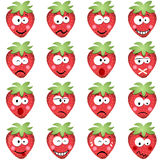 Strawberries with emotions Stock Photos