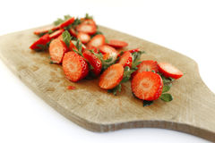 Strawberries residues Stock Photos