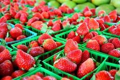 Strawberries at Farmer's Market Royalty Free Stock Photo