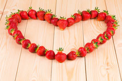 Strawberries in the form of heart Stock Images