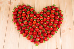 Strawberries in the form of heart Royalty Free Stock Photos