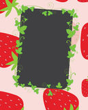 Strawberries frame Stock Photos