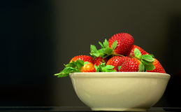 Strawberries. Fresh Strawberries in a Bowl royalty free stock images