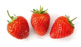 Strawberries. Fresh strawberries over white background Royalty Free Stock Photos
