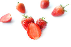 Strawberries. Fresh stawberries cut off on white background Stock Photography