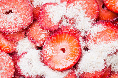 Strawberries fruit background. Stock Photo