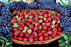 Strawberries. At the fruit market Royalty Free Stock Image