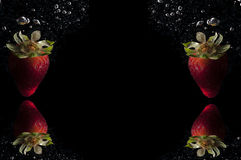 Strawberries fruit splash background Royalty Free Stock Photography