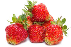 Strawberries from the garden on a white Royalty Free Stock Photos
