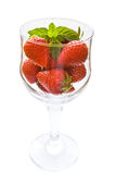 Strawberries glass Stock Images