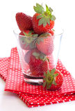 Strawberries in a glass Stock Photos