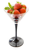Strawberries in glass Royalty Free Stock Image