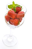 Strawberries in glass Stock Photography