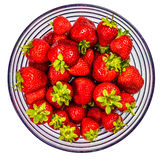 Strawberries in a Glass Bowl. Studio shot Royalty Free Stock Images