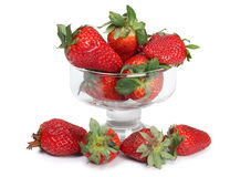 Strawberries in glass cocktail Royalty Free Stock Image