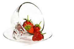 Strawberries in a glass cup Royalty Free Stock Photo