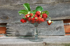 Strawberries in a glass Stock Image