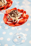 Strawberries in glasses Royalty Free Stock Image