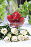Strawberries in goblet Stock Images