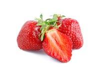 Strawberries and half Stock Image