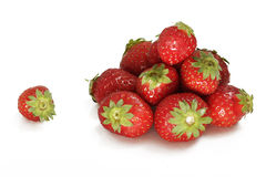 Strawberries handful Stock Photography