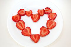 strawberries heart Royalty Free Stock Photo