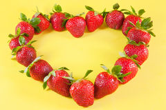 Strawberries heart Stock Photos