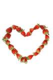 Strawberries heart Stock Photo