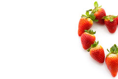 Strawberries in heart shape Royalty Free Stock Photography