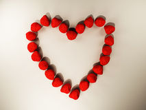 The strawberries, heart-shaped Stock Image