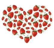 Strawberries heart Stock Photography