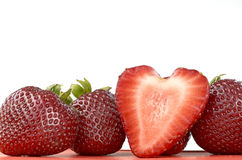 Strawberries Heartshape Stock Photo