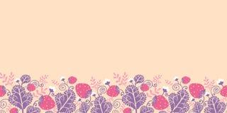 Strawberries horizontal seamless pattern Royalty Free Stock Photo