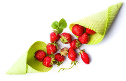 Strawberries in an ice cream cone Royalty Free Stock Photo